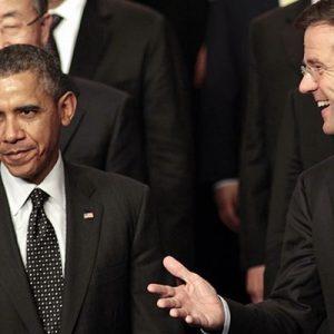 Obama, Rutte, Premier Holland